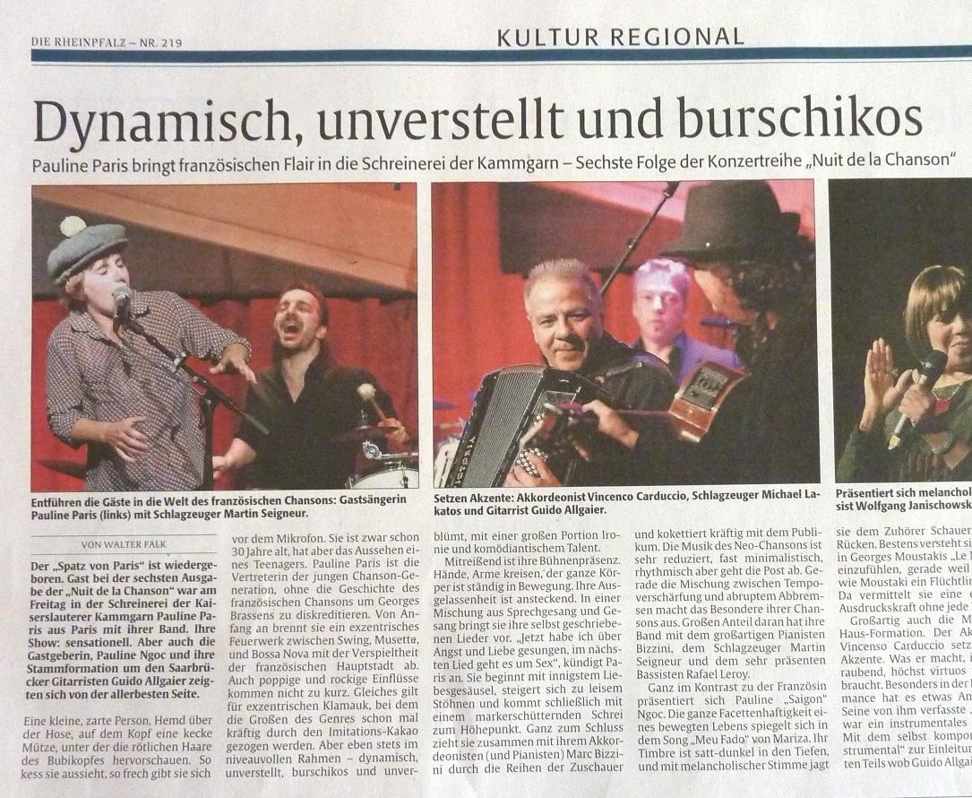 Artikel aus Die Rheinpfalz (21.09.2015)